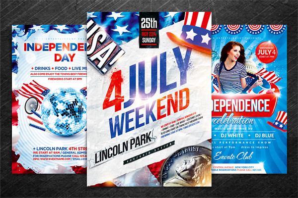 Independence Day Flyer Bundle, PSD Template \ - independence day flyer