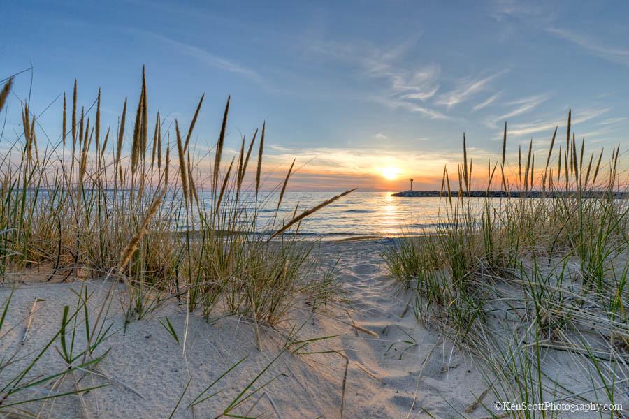 Fall Cape Cod Wallpaper Lake Michigan Beach Grass Sunset Leland Beach Photo