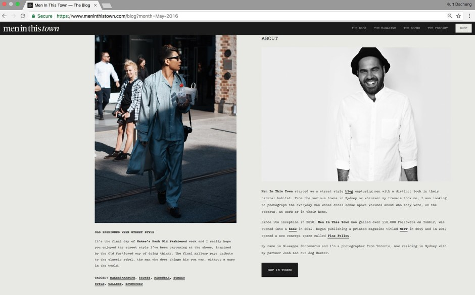 men in this town magazine book streetstyles website PRESS