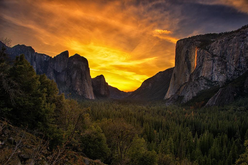 Yosemite Falls Wallpaper Horsetail Falls Sunset 2014 When I Set Out To Take This