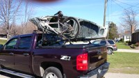 Kayak & Bicycle on Thule Rack on DiamondBack Truck Cover o ...