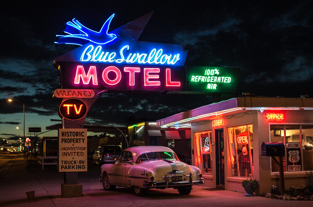1920 Car Synthwave Wallpaper The Quot Blue Swallow Motel Quot Tucumcari Sylvain L Flickr