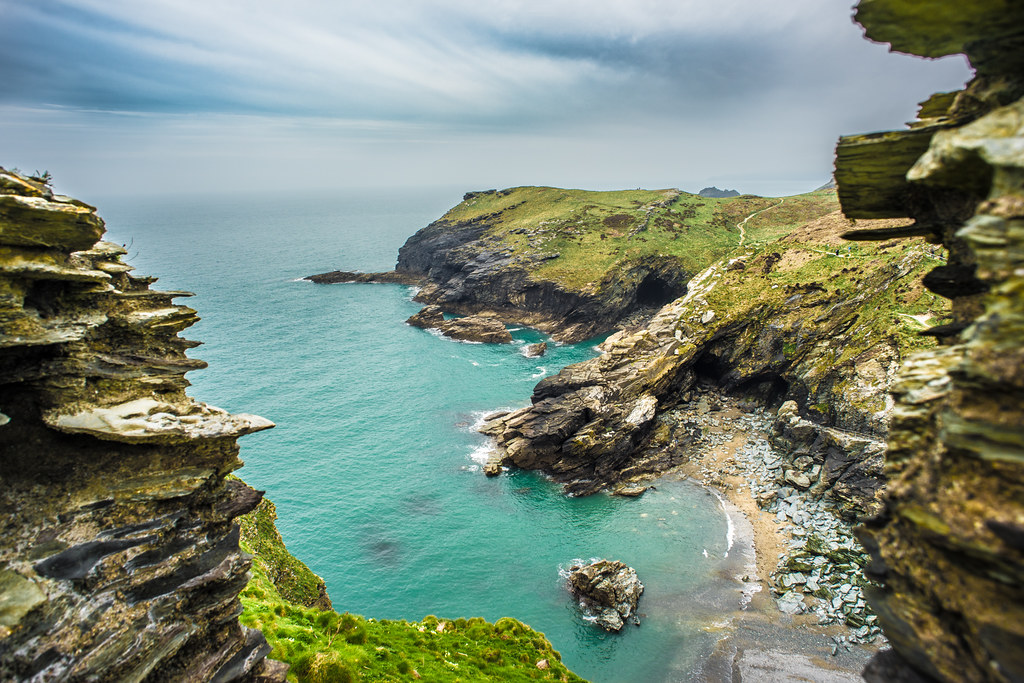My Photo 3d Wallpaper View From The Tintagel Castle Cornwall United Kingdom