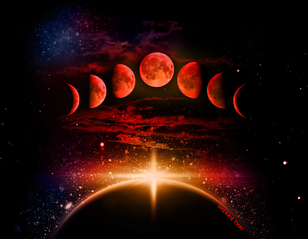 Create A New Calendar Moon Calendar For Year 2018 United States Time And Date Blood Moon Phases Design By Sherrie Thai Of