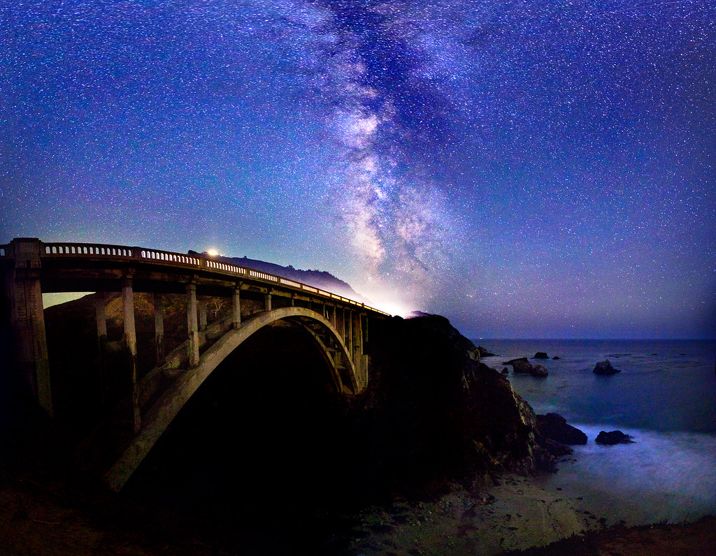 Best Wallpaper In The World In 3d Big Sur Milky Way Bixby Bridge The Milky Way Above