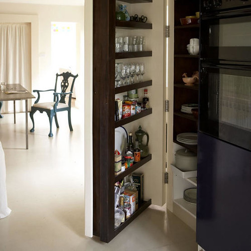 Cabinet Cupboard Pantry Storage | White Open Plan Dining Room Kitchen Hidde
