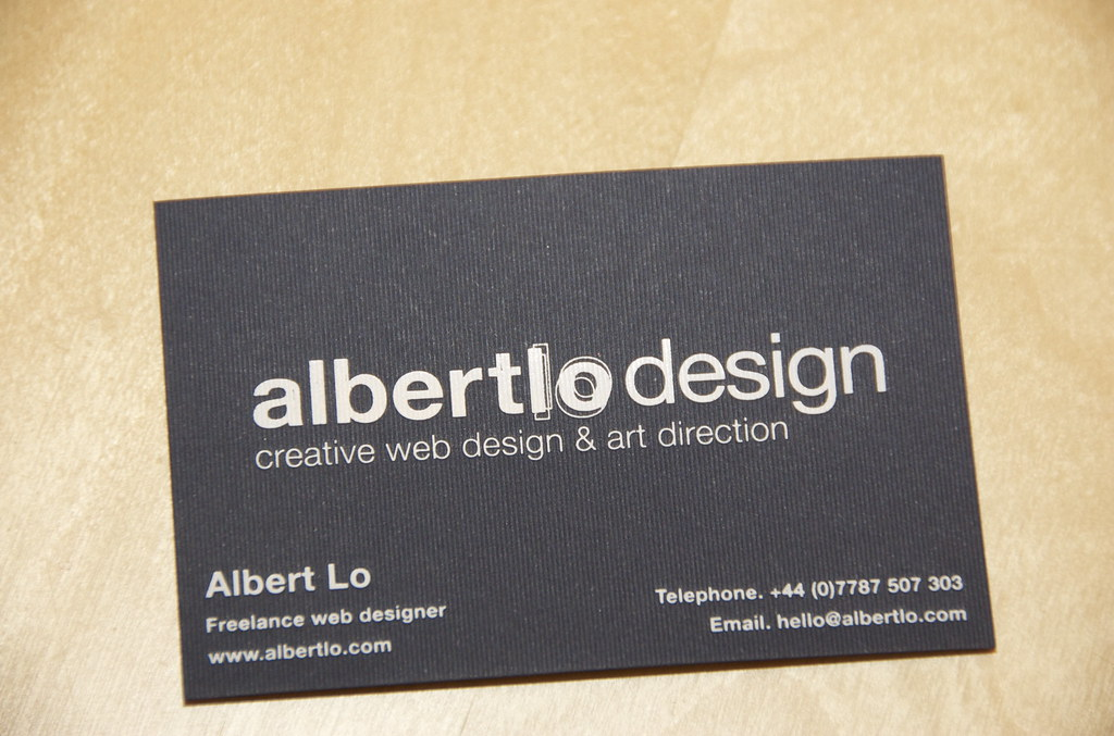 albertlo design business card My new business cards GFSmi\u2026 Flickr
