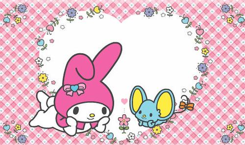 Gambar Wallpaper Cute My Melody Sanrio Hello Pixel Flickr