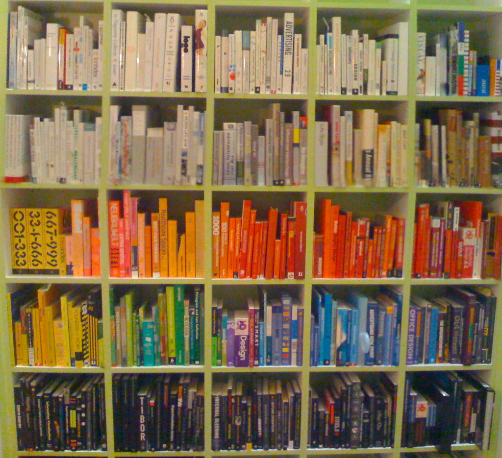 Co colour coordinated bookshelf - Color Coded Bookcase By Juhansonin