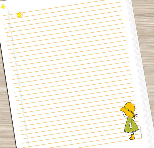 Printable Notebook Paper - Girl with Butterflies JUST PRIN\u2026 Flickr