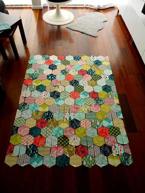 Quilt Now Comfortstitching's Half Hexagon Quilt-a-long | Flickr