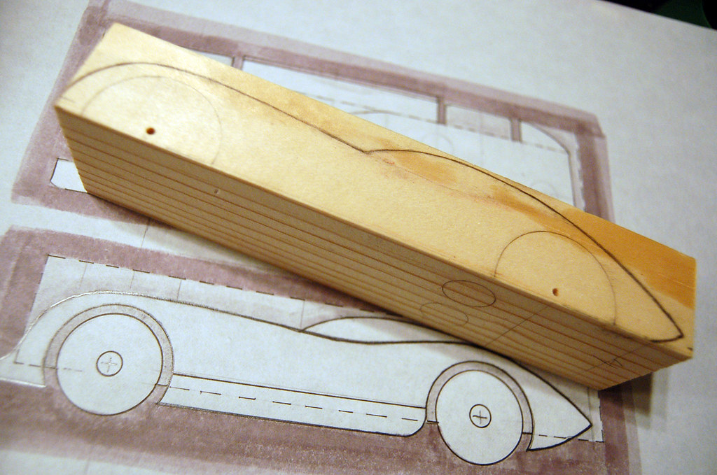 2009 Pinewood Derby Car #1 (Step 2, tracing the sketch on u2026 Flickr - pinewood derby template