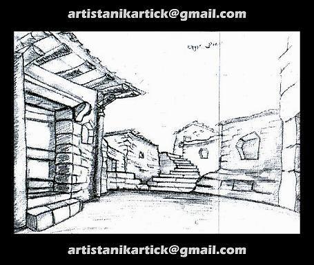 PENCIL Sketch work - Background sketch -15- Artist ANIKART\u2026 Flickr - background sketches
