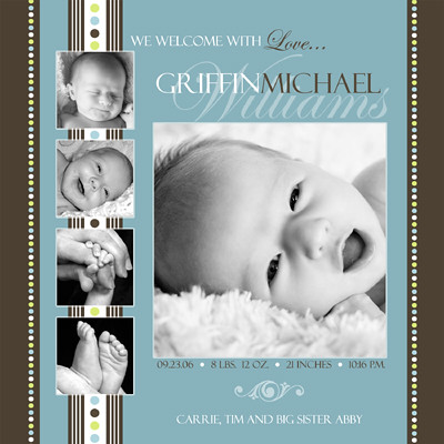 Baby Birth Announcement Photoshop Templates Volume #1 Flickr