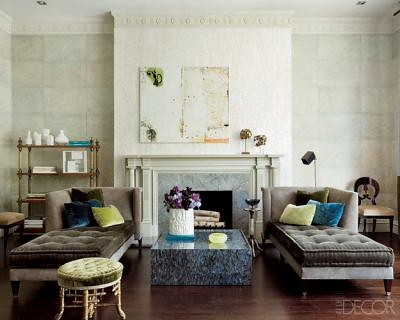 Luxe neutral living room, featured in Elle Decor The livinu2026 Flickr - elle decor living rooms
