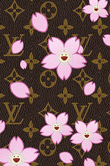 3d Pink Flower Wallpaper Lv Cherry Blossom Iphone Since My Damier Canvas