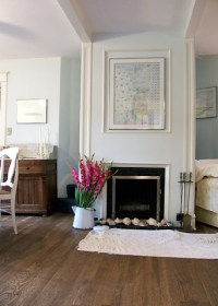 Pretty pale blue living room: 'Seafoam' by Benjamin Moore ...