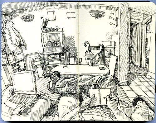 Drawing The Living Room Then Linda And I Watched Albert