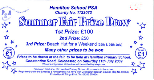 Summer Fair raffle ticket Summer Fair Prize Draw raffle ti\u2026 Flickr - raffle ticket prizes