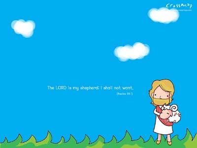 Free 3d Cartoon Wallpapers For Desktop Christian Backgrounds Wallpaper Lord Is My Shepherd Flickr