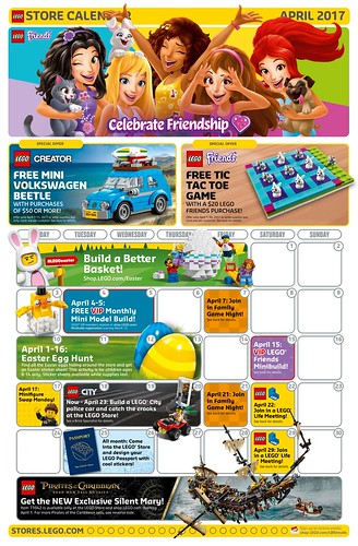 LEGO April 2017 Store Calendar Promotions  Events - The Brick Fan