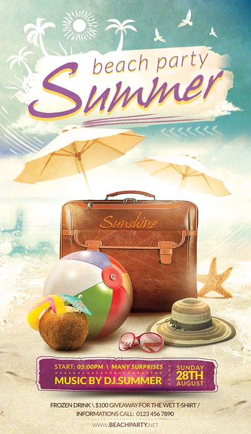 Summer Flyer Template You can DOWNLOAD the PSD file hereS\u2026 Flickr