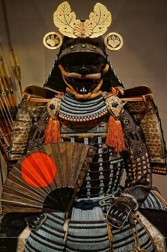 3d Wallpaper Gift Nuinobedō Tōsei Gusoku Armor With War Fan And Gold Paulown