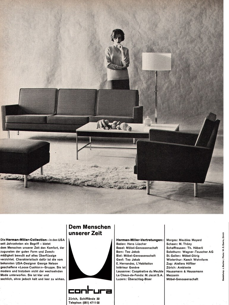 Meubles Zurich Herman Miller Ad 1959 Designer George Nelson All Imag Flickr