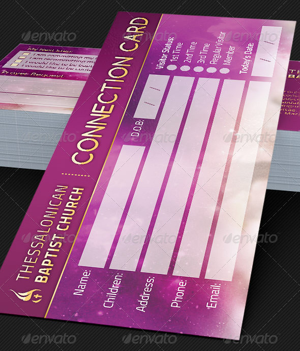 Connection Card Template for Churches The Connection Card \u2026 Flickr