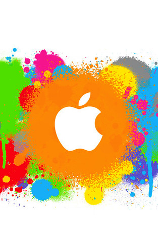 Wallpaper Apple Iphone 6 Apple Spray Paint Iphone Wallpaper Read The Story Www
