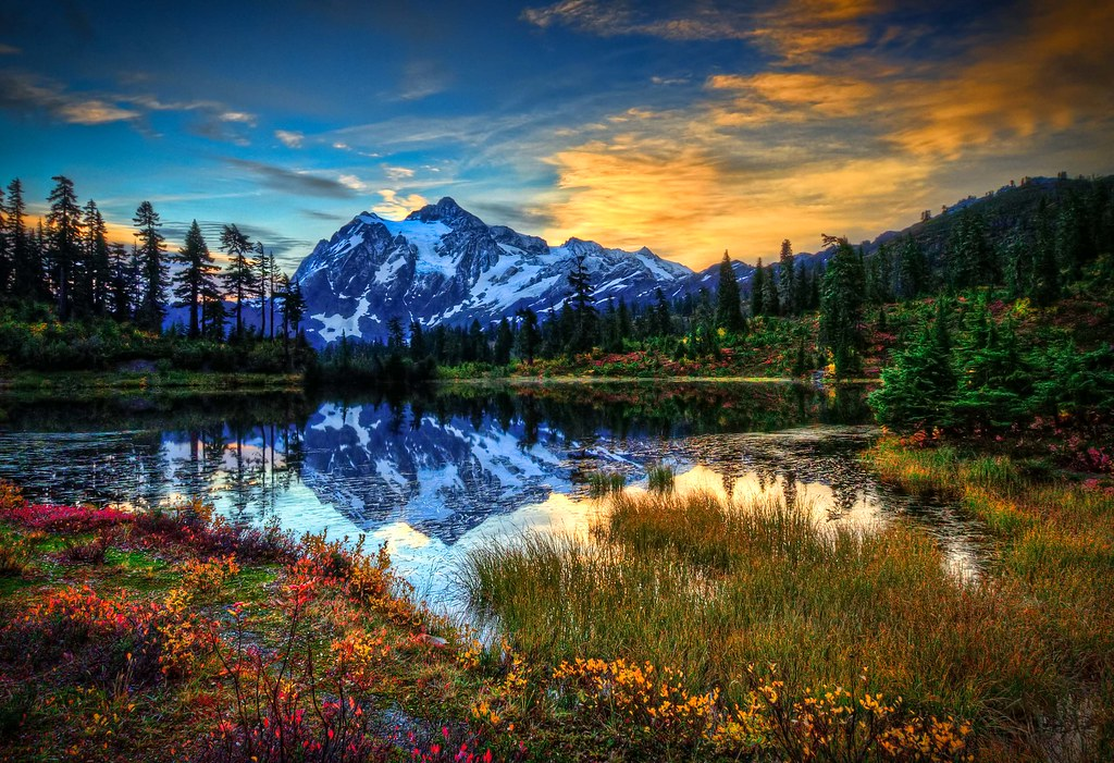 Scenic Fall Wallpaper Mt Shuksan Sunrise Hdr 1 Finally I Have A Sunrise Shot