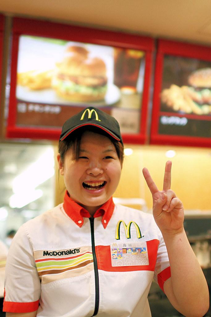 Order Taker - McDonald\u0027s Sunshine City She took our order \u2026 Flickr