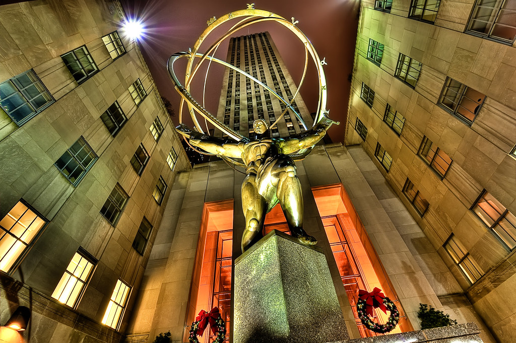 3d Wallpaper New York City Atlas Shrugged Seven Exposure Hdr Processed With
