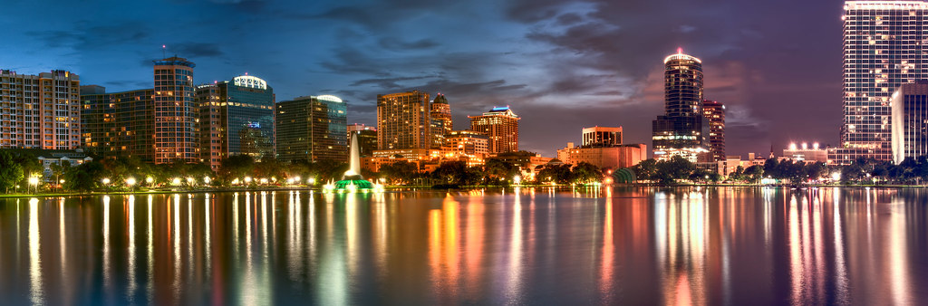 Hd Video Camera Wallpaper Downtown Orlando As Night Comes View Large Night Came