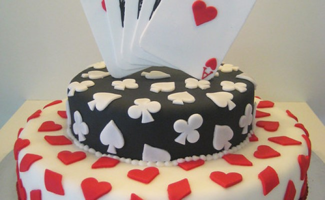 Poker Cake Playing Card Themed Cake With A Royal Flush As Flickr