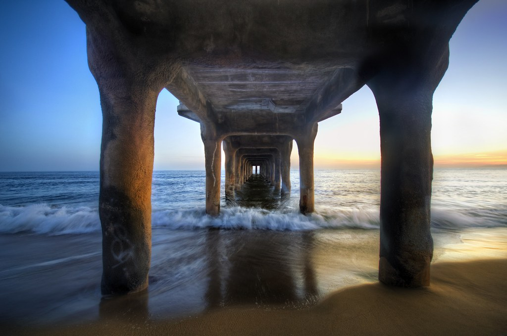 3d Wallpaper Under The Sea Sunset Under The Pier Synthetic Happiness And Photoshop