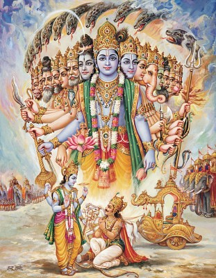 Hindu God Animation Wallpaper Shri Krishna Virat Swaroop Check Out My Durga Maa