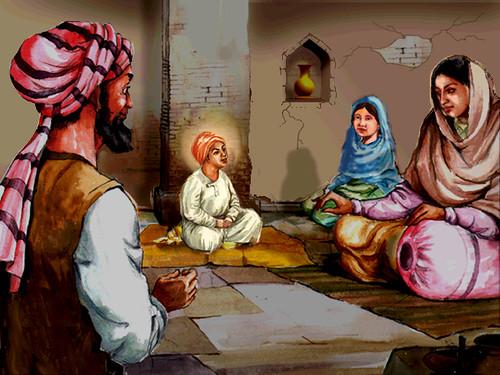 3d Wallpaper Guru Nanak Dev Ji 01 Child Guru Nanak Dev Jee Impresses Onlookers Manvir