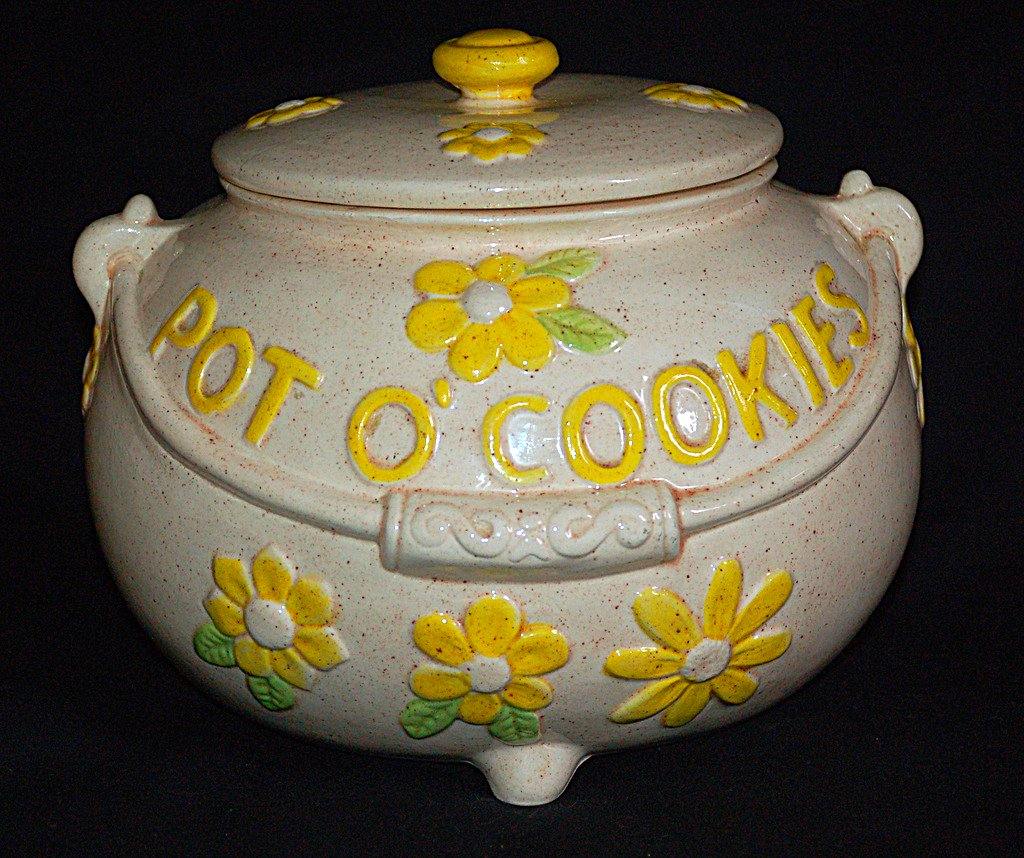 Modern Cookie Jar Twin Winton Pot O 39 Cookies Mid Century 1960 39s Cookie Jar