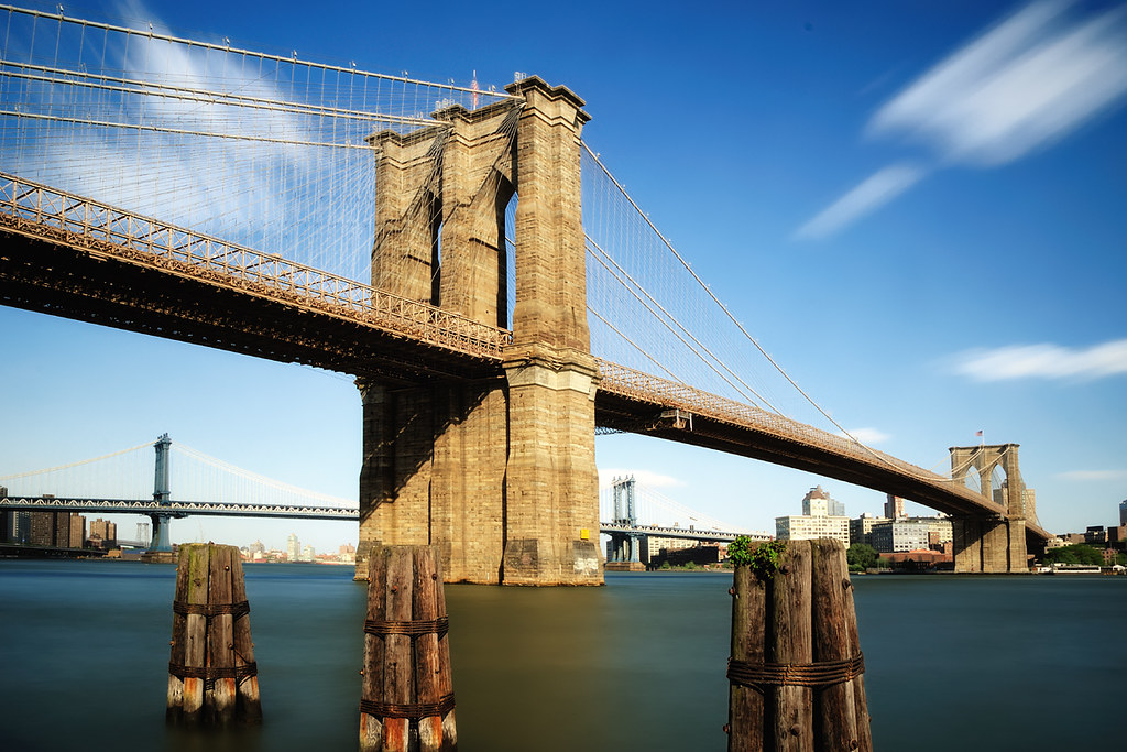 Good Afternoon 3d Wallpaper Midday Long Exposure Brooklyn Bridge New York City Flickr