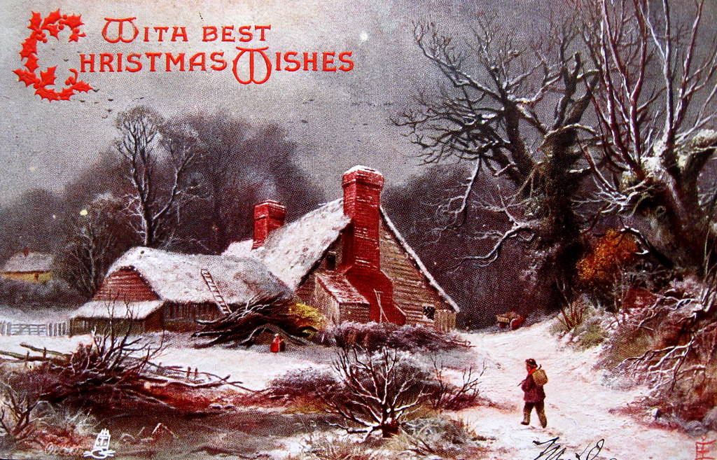 3d Winter Wallpaper Free Christmas Pastoral Evoking Currier Amp Ives Many Early