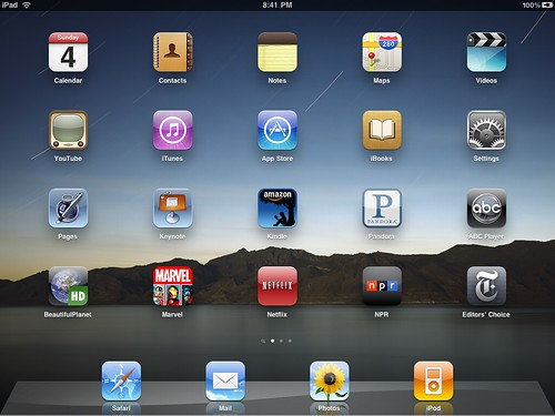 Cool 3d Ipad Wallpapers Apple Ipad My Home Screen Icons Day 2 18 Mike Lee