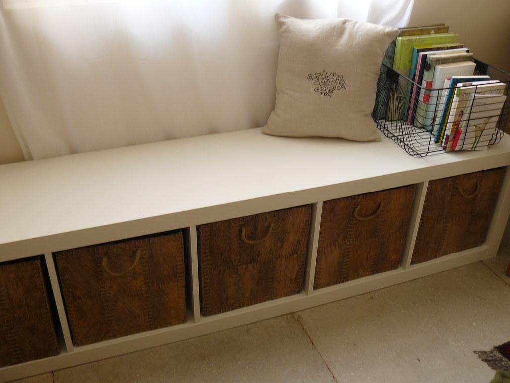 Storage Bench Under Our Bedroom39s Window Ikea Expedit