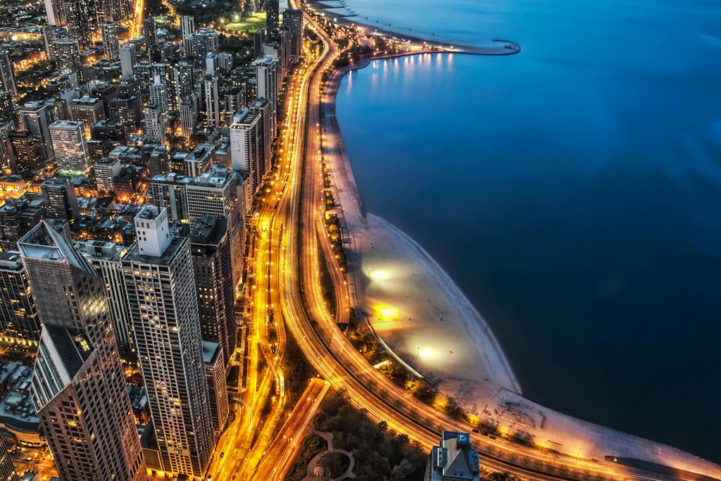 3d Desktop Wallpaper High Resolution Lake Shore Drive Aerial Blue And Gold Chicago I M Glad