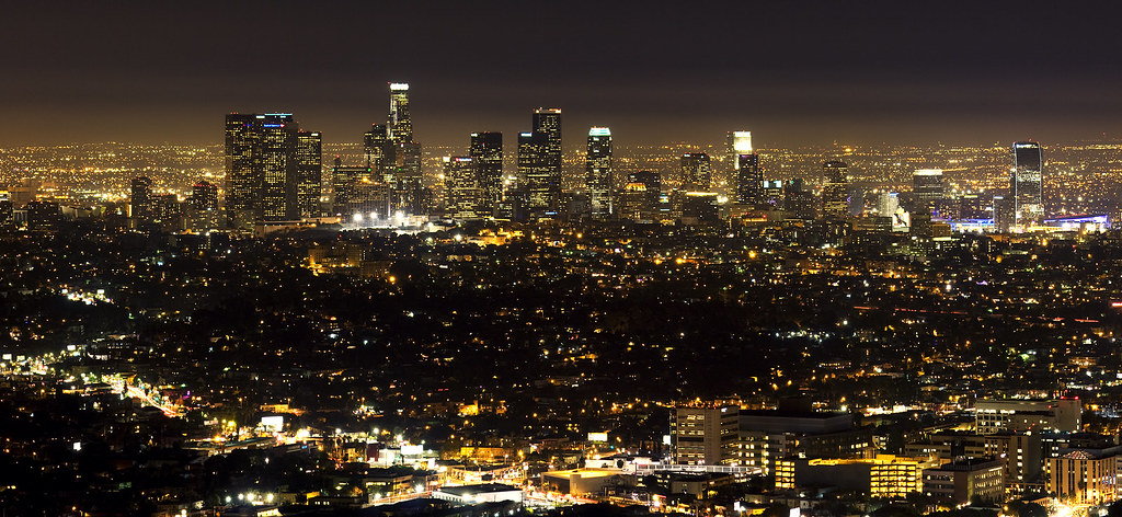 Free Winter 3d Desktop Wallpaper Los Angeles Skyline A Panoramic View To Downtown Of Los