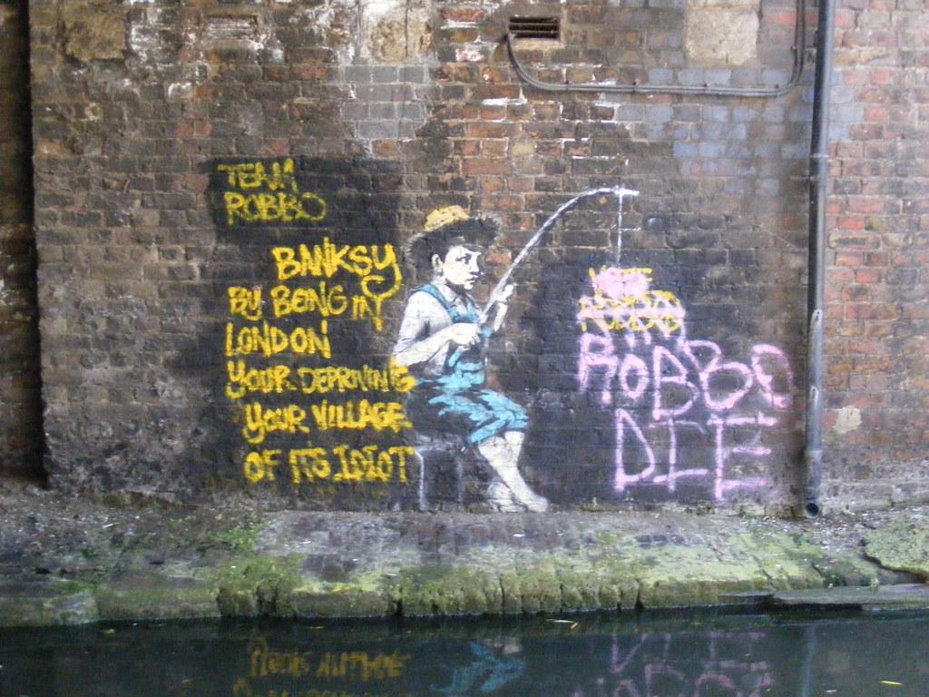 3d Brick Wallpaper For Walls Banksy V Robbo Regent S Canal John W Schulze Flickr