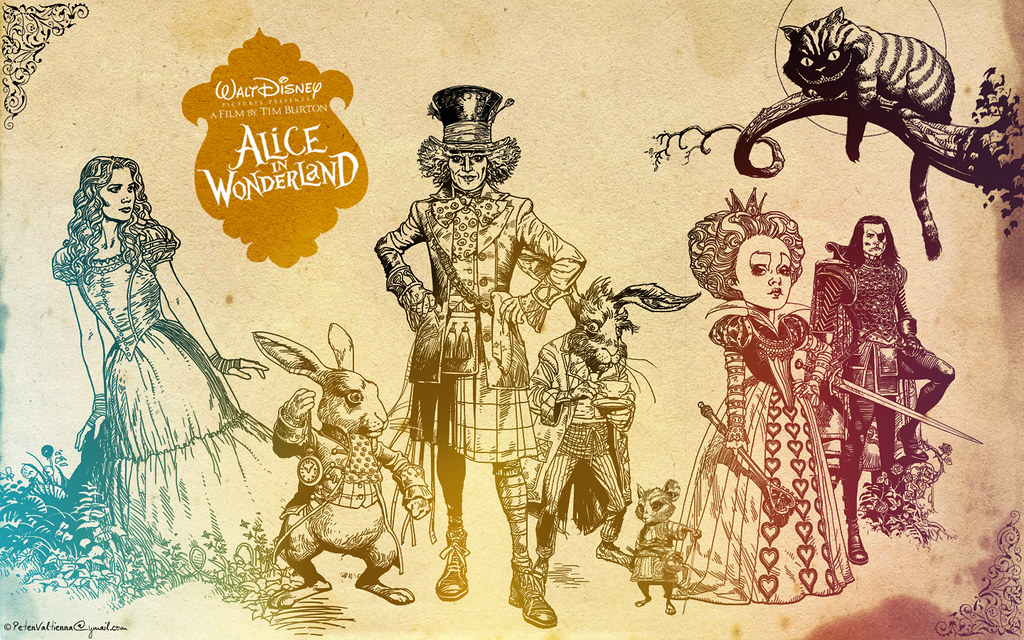 Jack And Sally Wallpaper Hd Alice In Wonderland Walt Disneys Background Wallpaper Tim