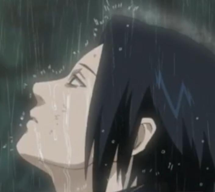 Cute Sad Crying Girl Wallpaper Sasuke Crying In The Rain A Sad Sasuke Crying After