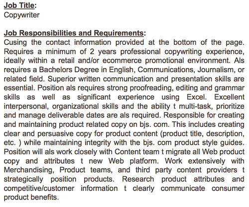 Is This a Joke/Test? A Copywriter job description that nee\u2026 Flickr - copywriter job description