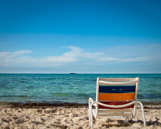 Beach chair on Serenity Bay